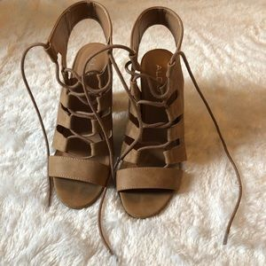 ALDO Lace Up Heeled Sandals